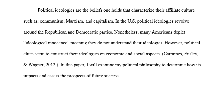 Political ideologies and how they are applied to American government