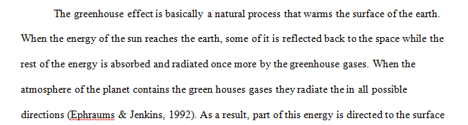 THE GREENHOUSE EFFECT AND GREENHOUSE GASES