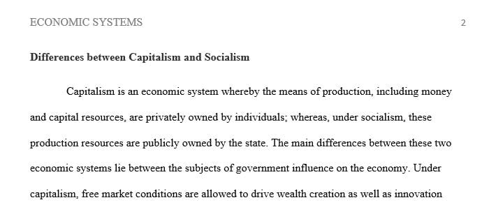 What are the differences between capitalism and socialism