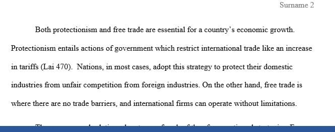 Compare the relative advantages of protectionism and free trade