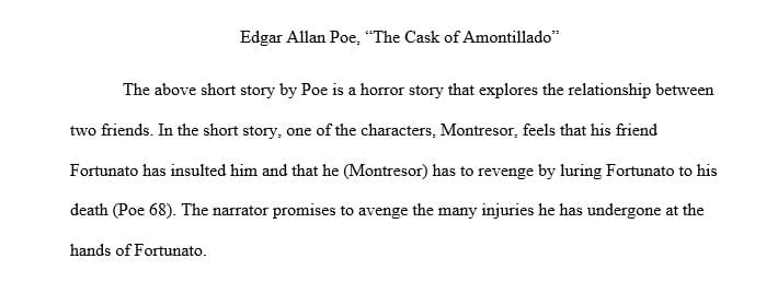What elements make The Cask of Amontillado a horror story