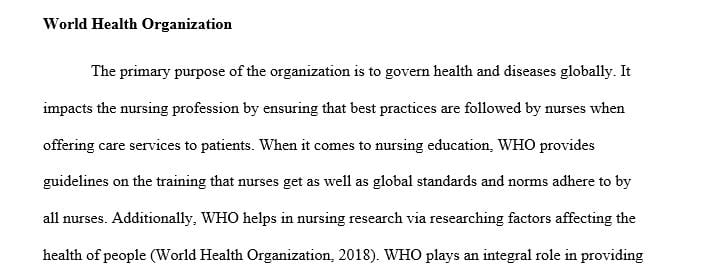 What impact does the organization have on nursing practice