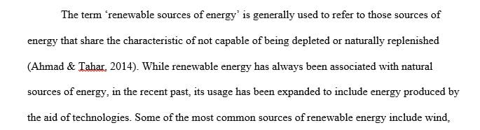 Describe the different sources of renewable energy and compare them