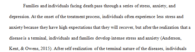 Examine individuals who are facing death. In the worksheet describe development of these perceptions.