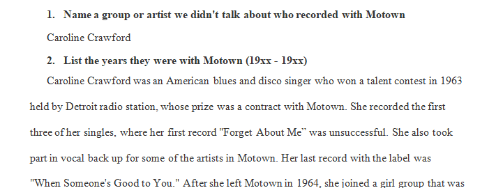 Name a group or artist we didn't talk about who recorded with Motown