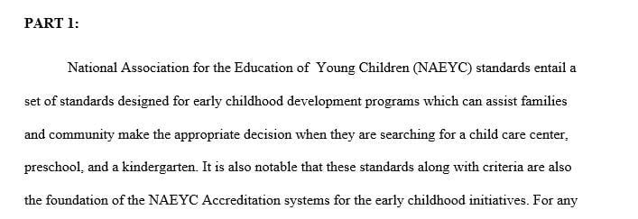Identifying and involving oneself with the early childhood field
