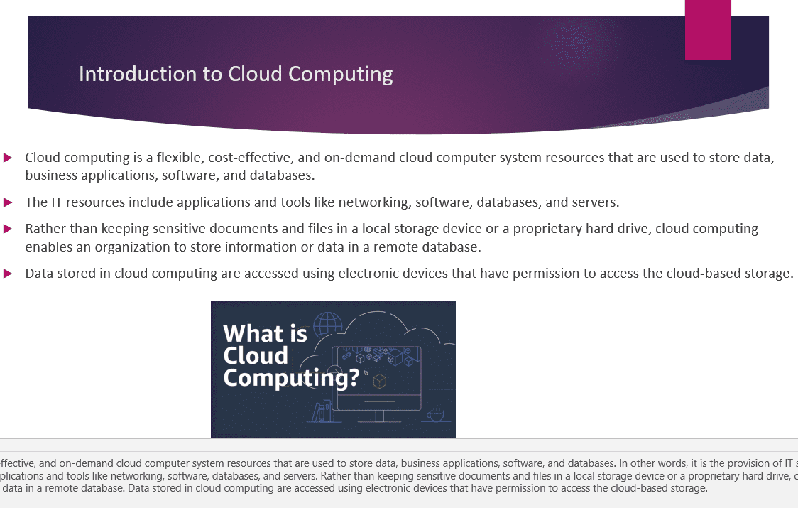 The Board of Directors and CEO of your organization is interested in the business value gained from adopting Cloud computing.