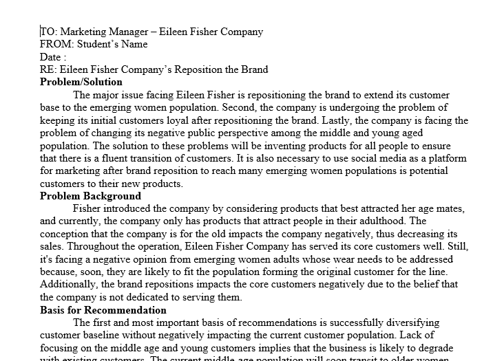Professional memo style, address memo to the principal decision-maker in the case
