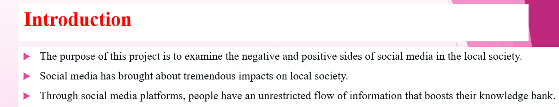 Social media's impact on the local society