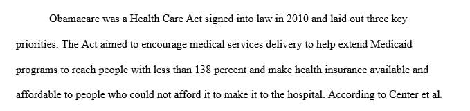 Conduct a literature review about the Affordable Care Act (Obamacare).